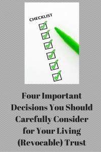 Four Important Estate Planning Decisions